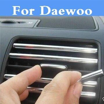 U styl zmodyfikowany pasek do dekoracji samochodu wylot powietrza ostrze naklejki dla Daewoo Evanda G2X Gentra Kalos Lacetti Lanos Magnus