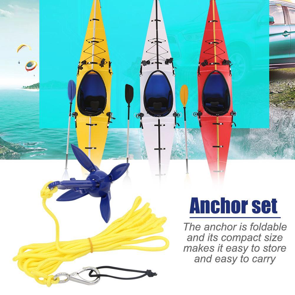 Cuatro asas plegables SUP Paddle Board barco ancla de aluminio para Kayak barcos de goma canoa Motorboat agua deportes Accesorios