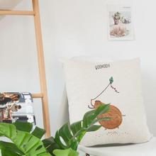 Hand Painted Style Unicorn Cushion Cover Cute Cartoon Small Animal Flamingo Alpaca Fox Whale Plush Pillow Case For Kids Gift