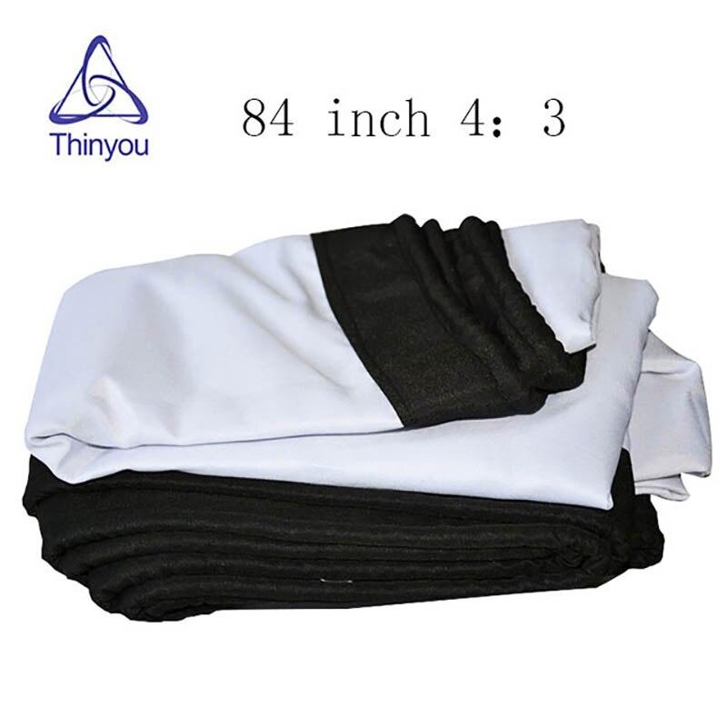 Pantallas de proyección Thinyou Fold de 84 pulgadas 43 HD, cortinas para películas de tela blanca mate con ojales para películas de cine en casa al aire libre