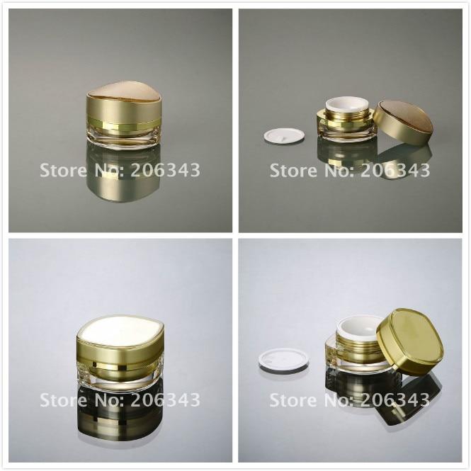 15g gold eye shape eye cream jar/day cream/night cream/essence/moisturizer/gel plastic jar  cosmetic packing