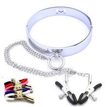 Femmes nouveau métal chaîne mamelon pince esclave mamelon Clip BDSM Bondage fétiche jouet harnais cadeau de mariage accessoires exotiques