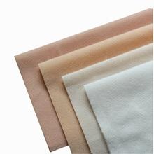 Tissu molletonné en velours 4 couleurs bricolage   Pour la peau de poupée, tissu molletonné en Fiber de peluche pour vêtements de couture Costura jouets tricotés sieste Tissus de Telas