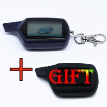 Two way B6 LCD Remote Control Key Fob +Silicone Case Russian Vehicle Security Two Way Car Alarm Syst