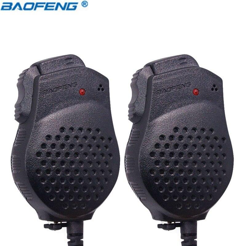 2 uds Original de Baofeng UV-82 Dual-PTT Micrófono Altavoz portátil Push-To-Talk para bf-uv82 Walkie Talkie micrófono accesorios UV 82
