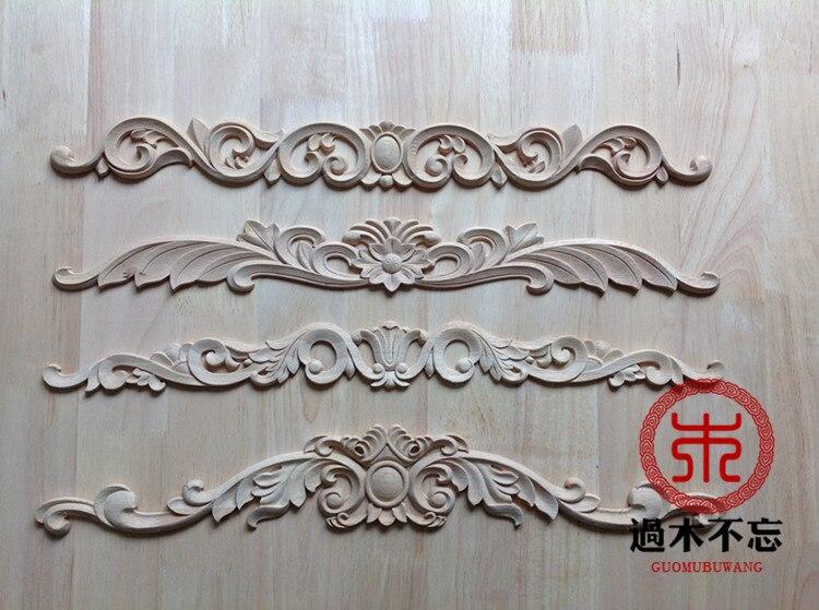 No olvides la madera Dongyang madera tallada madera ventana calcomanía pegatinas estilo europeo chimenea puerta flor cama