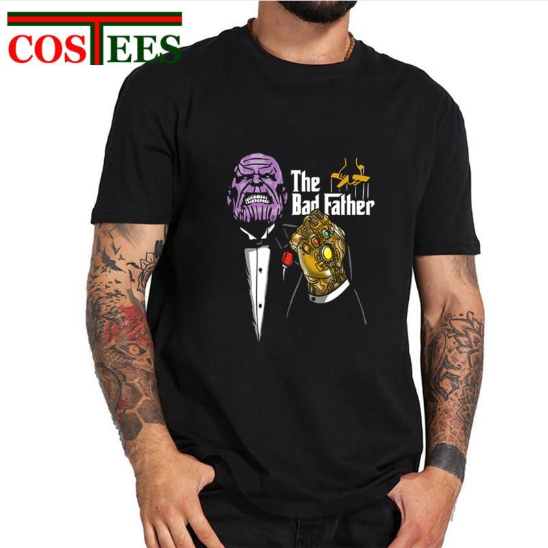 Parodia vengadores Infinity War el mal padre Thanos T camisetas de los hombres de la guerra Civil camiseta super Titan camiseta de héroe comics de calle