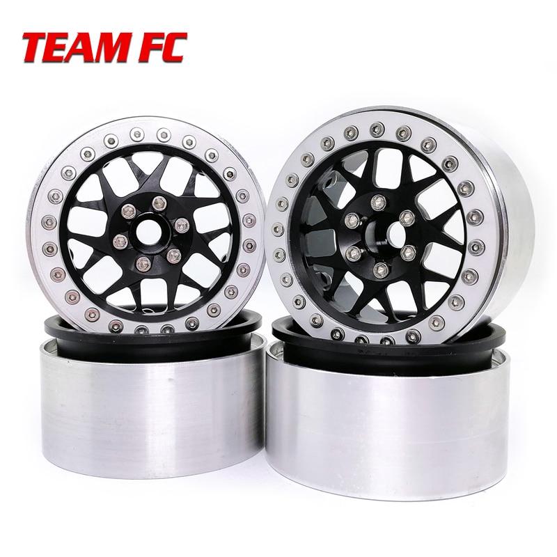 4 Uds Metal 2,2 pulgadas llanta de la rueda para 1/10 RC Crawler Axial SCX10 RR10 90053 AX10 espectros 90056, 90045 de 90048 S46