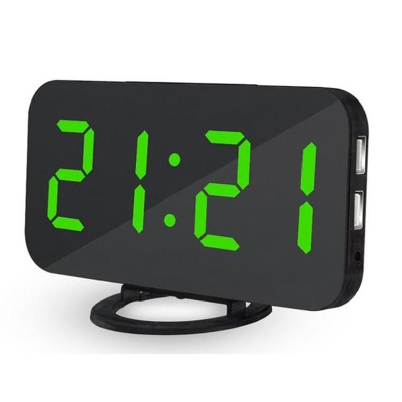 Gran número de pantalla despertador LED Control de voz gran alarma reloj electrónico despertador retroiluminado escritorio Digital relojes de mesa