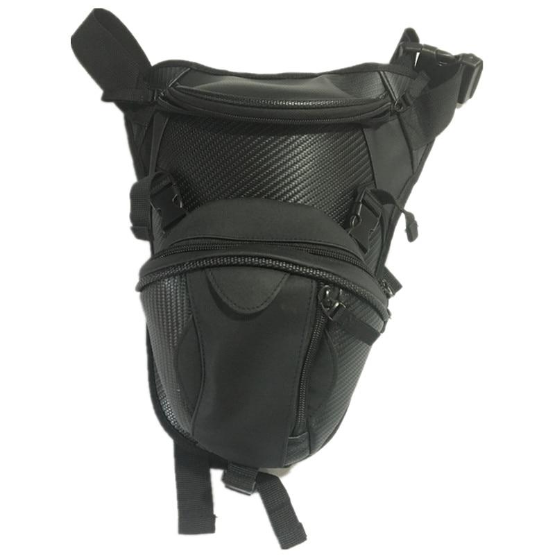 Fantástica bolsa cartuchera de nailon impermeable Unisex para motocicleta, bolsa de almacenamiento para la cintura, riñonera de viaje negra para hombre