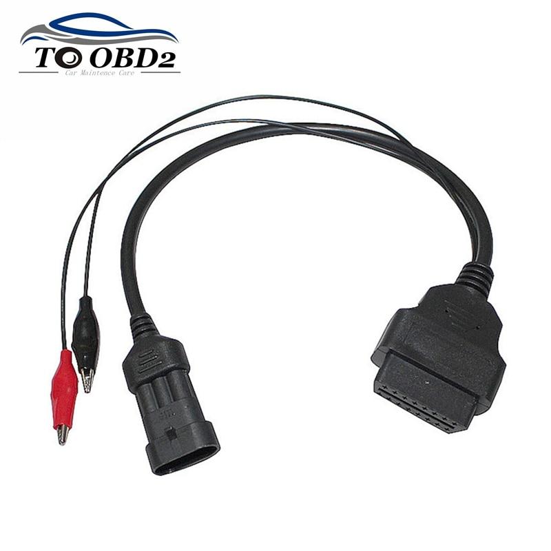 OBD OBD2 Auto Car Cable Fit for Fiat 3Pin to OBDII 16Pin Alfa Lancia DLC For Fiat 3 Pin Male to 16 Pin Female Diagnostic Cable