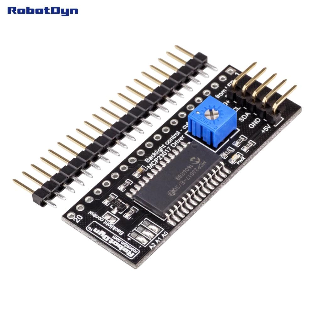 Графический ЖК-модуль адаптера 12864 К I2C. Расширитель для драйверов MCP23017. 5 В