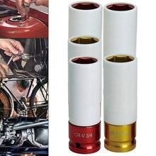 Manchon coloré de Protection des pneus, acier à haute teneur en carbone manchon de Protection des pneus mural écrou à choc profond roue à douille 17mm/19mm/21mm 1 pièce