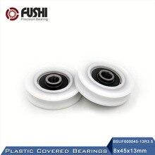Roulement à billes 6000 2RS recouvert plastique POM   8*45*13mm (2 pièces) roulements à poulie en plastique 6000 RS
