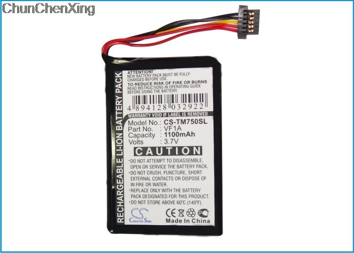 Cameron Sino 1100mAh Battery AHL03711012, HM9440232488, VF1A for TomTom 4CP0.002.06, Go 740 Live, 740TM, 750, 750 Live