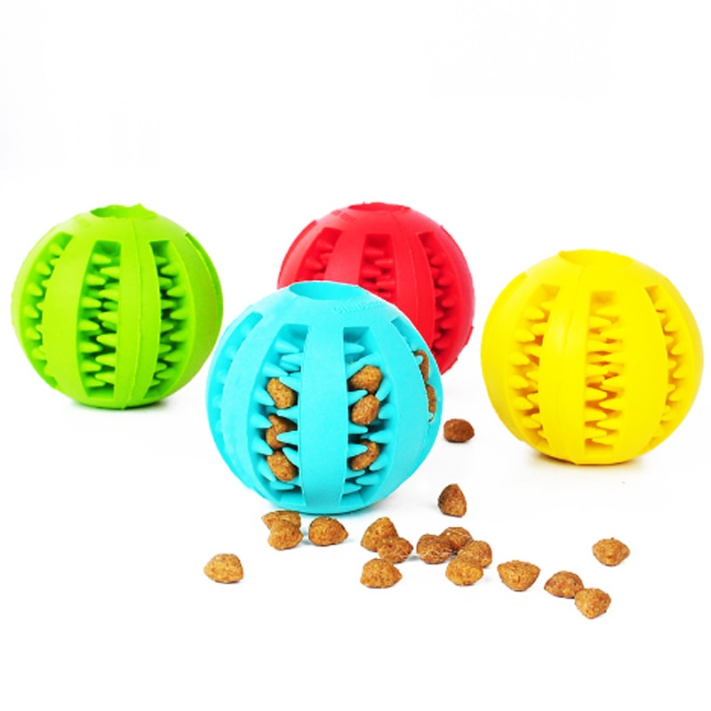 Brinquedo para cachorro extra resistente, brinquedo de mastigar para cachorro, bola de borracha interativa engraçada bola de comida