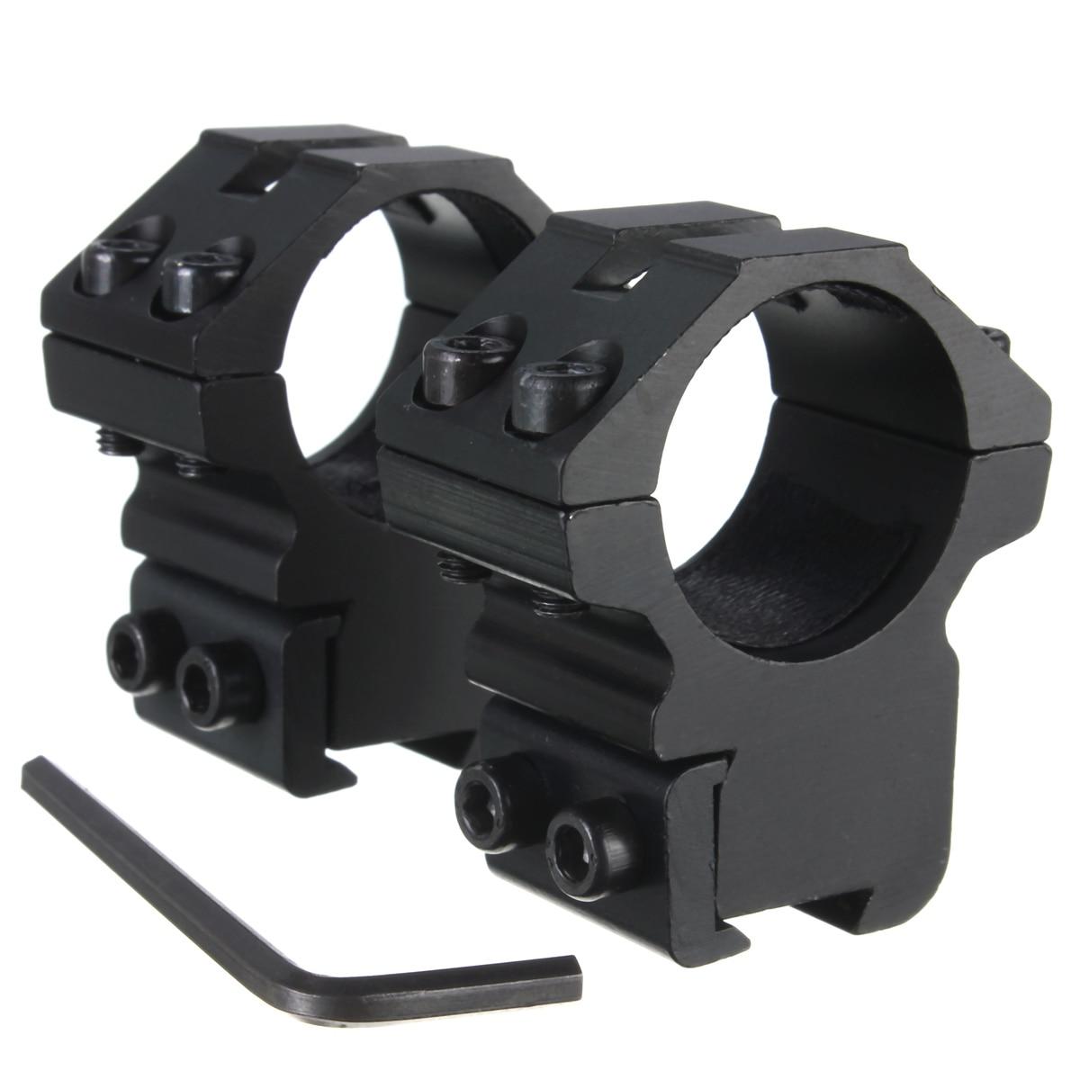"""Jiguoor 2 xmedianos Perfil de 25,4mm 1 """"montaje alcance linterna láser vista anillos de perfil medio riel Picatinny Weaver 11mm montaje en carril"""
