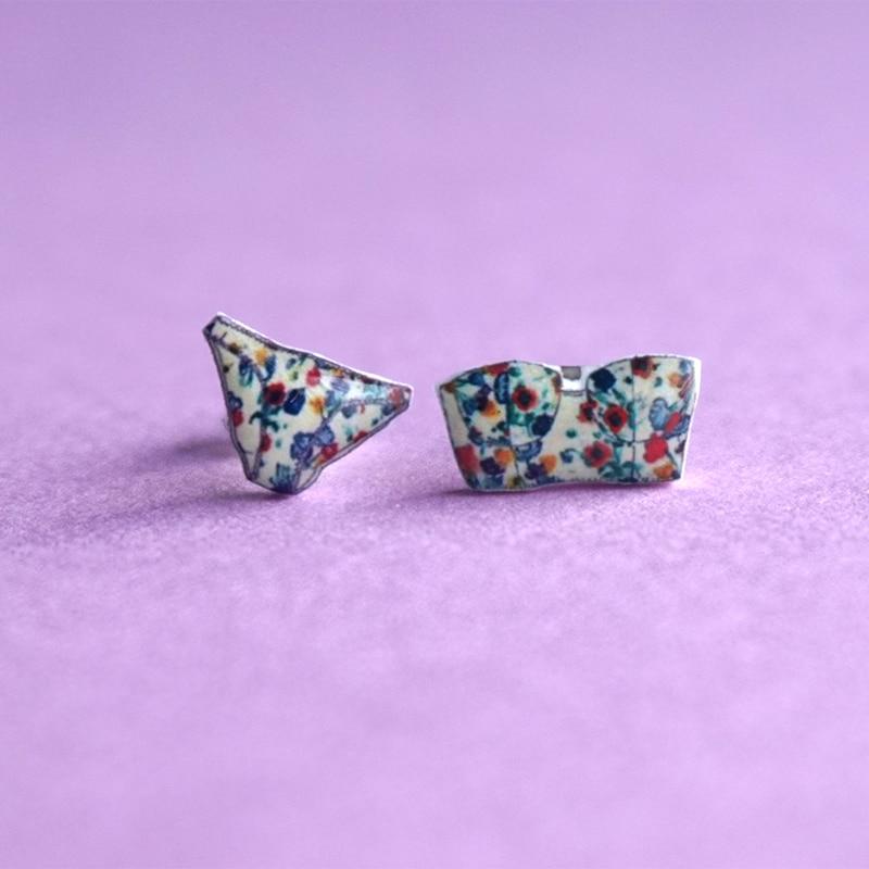 Новые Симпатичные серьги гвоздики женские ювелирные изделия Оригинальное