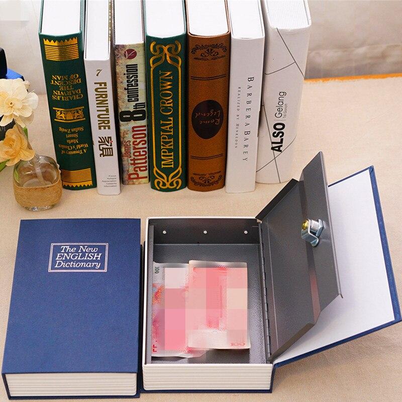 1 قطعة الإبداعية المعادن كلمة كتاب قاموس المال عملة تخزين مربع الأمانات النقدية مربع سر الخنزير البنك صندوق ودائع آمن
