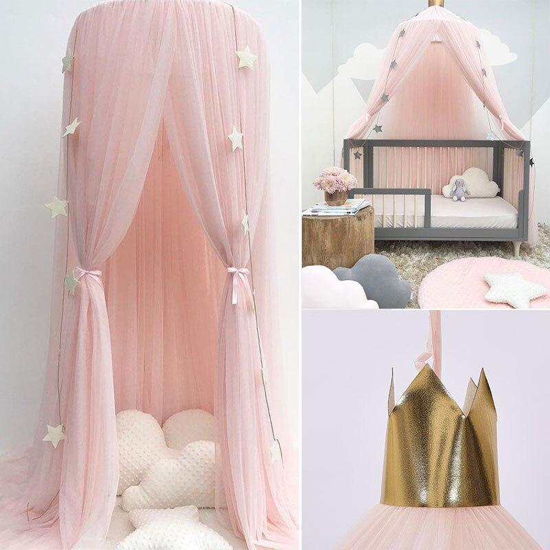 ناموسية صيفية للأطفال ، ناموسية لسرير دائري للفتيات الصغيرات ، غطاء سرير ، مظلة ، حضانة ، CA