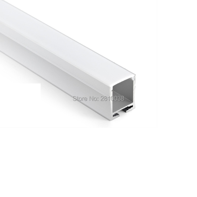 100 X 2M Sets/Lot Anodized silver aluminum led profile housing and U style led aluminum channel profile for hanging lights