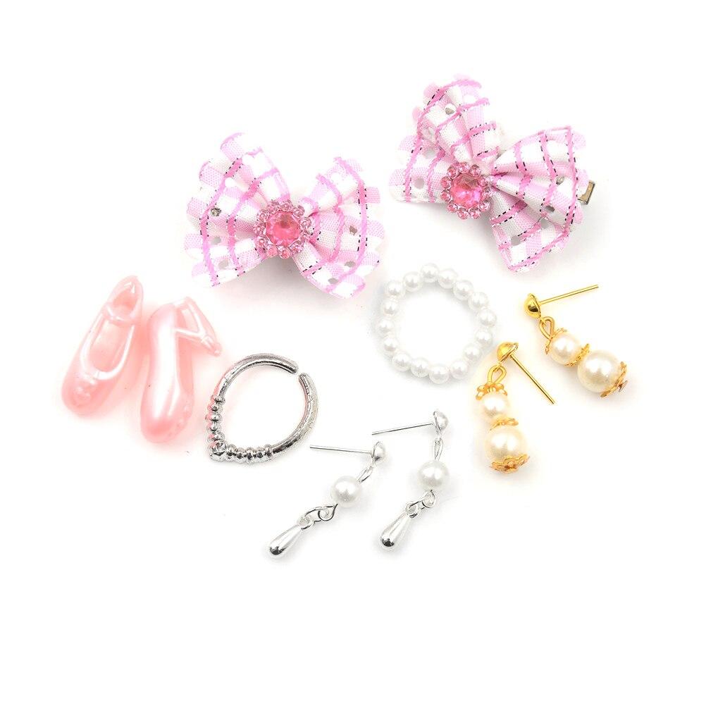 Conjunto de joyería para niños, collar, pendiente, lazo para muñeca, accesorios de...