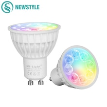 4 W Dimmable 2.4G Sans Fil Milight Led Ampoule GU10 RGB + CCT Led Spotlight Led Smart Lampe Déclairage AC86-265V