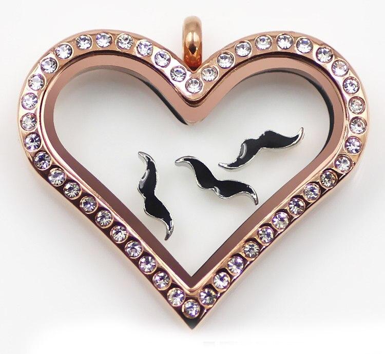 Freies Verschiffen! 20PCS Schwarz Schnurrbart Schwimm Charms Für Memory Glass Schwimm medaillon als Mama Liebhaber, Familien geschenke
