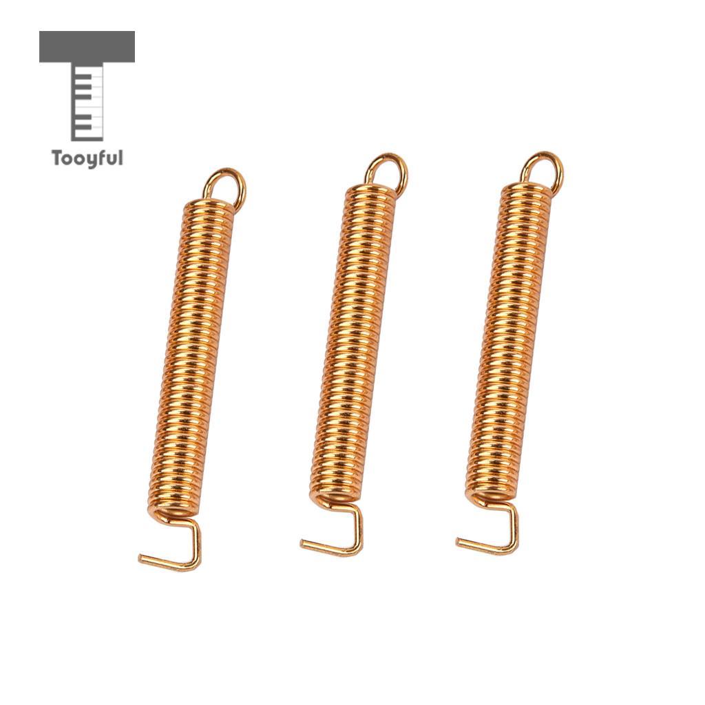 Tooyful 3 Pieces Iron Electric Guitar Tremolo Bridge Tension Springs for Bridge Accessory Golden