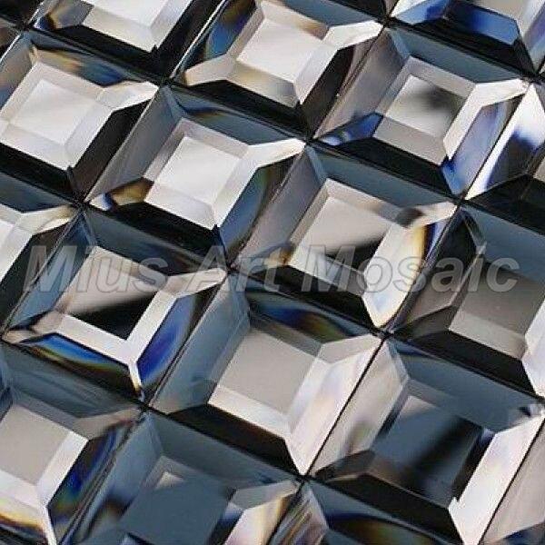 Hight quality Glossy  pure grey  mirror tiles mosaic backsplash