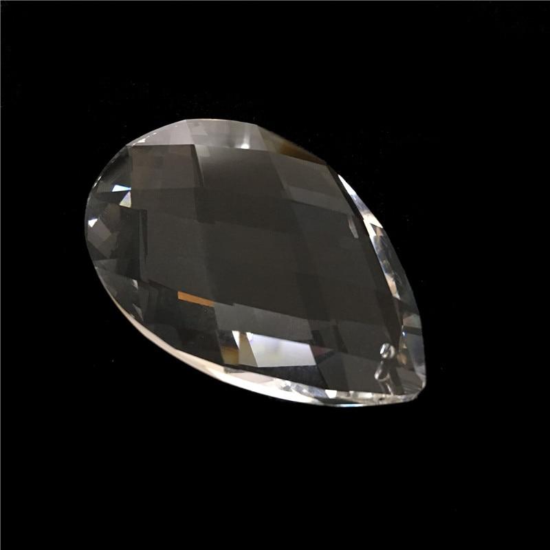 150pcs  89mm Glass Almond Shape Crystal Chandelier Parts Prism Pendants Free Shipping