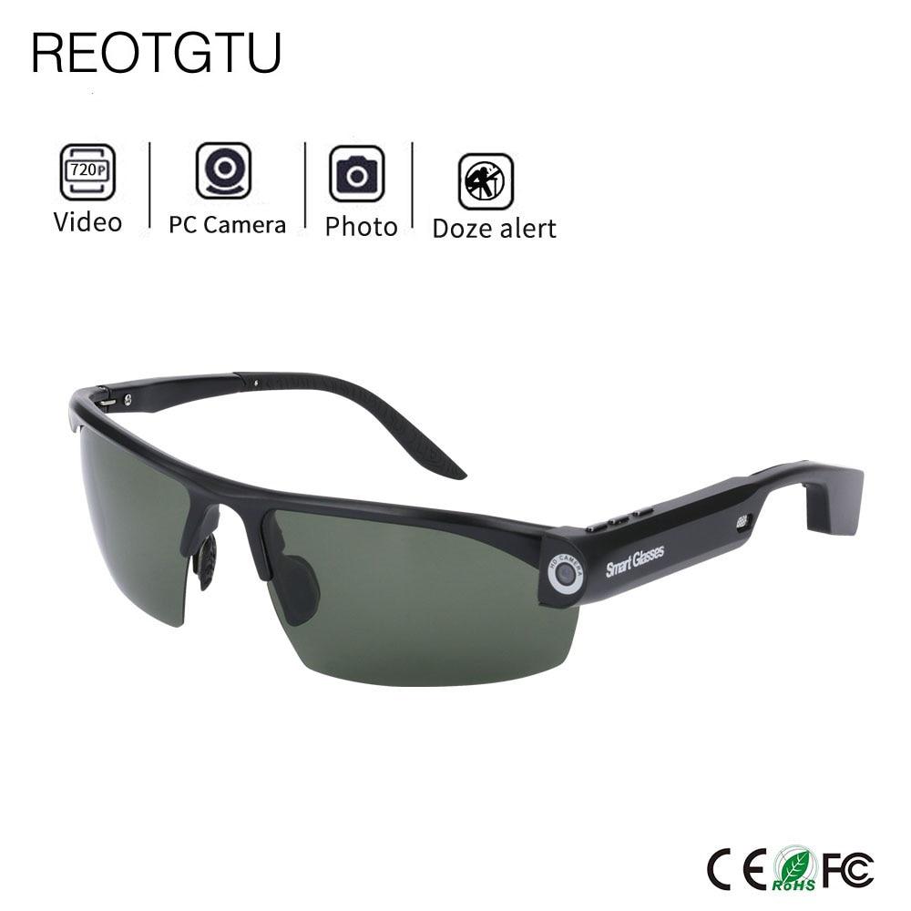 Gafas de sol HD para cámara de exterior deportiva, gafas DV inteligentes, Mini gafas de videocámaras integradas 8/32GB