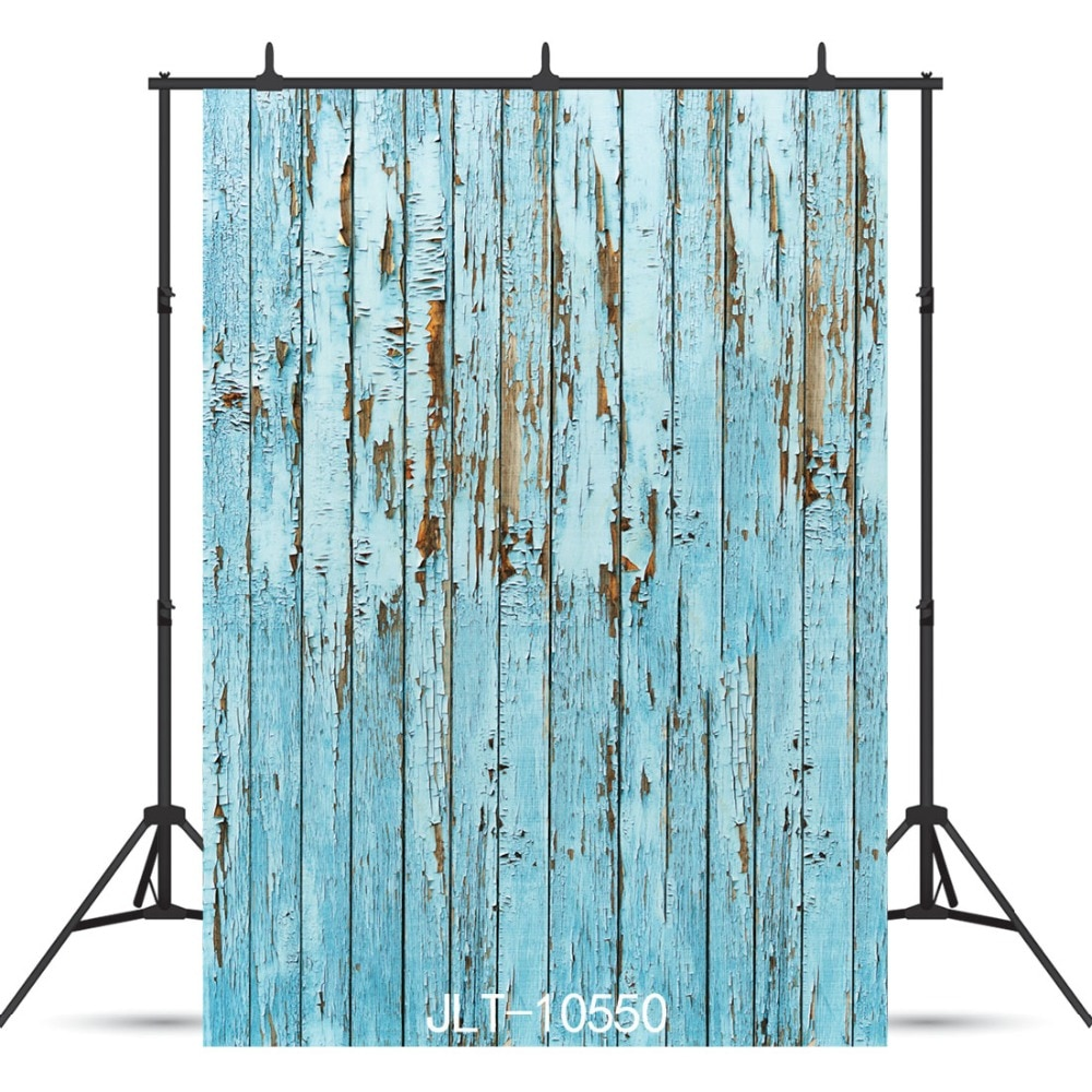 Vintage Blue Board Planks Texture Vinyl Photographic Background For Portrait Children Baby Shower New Born Backdrop Photocall