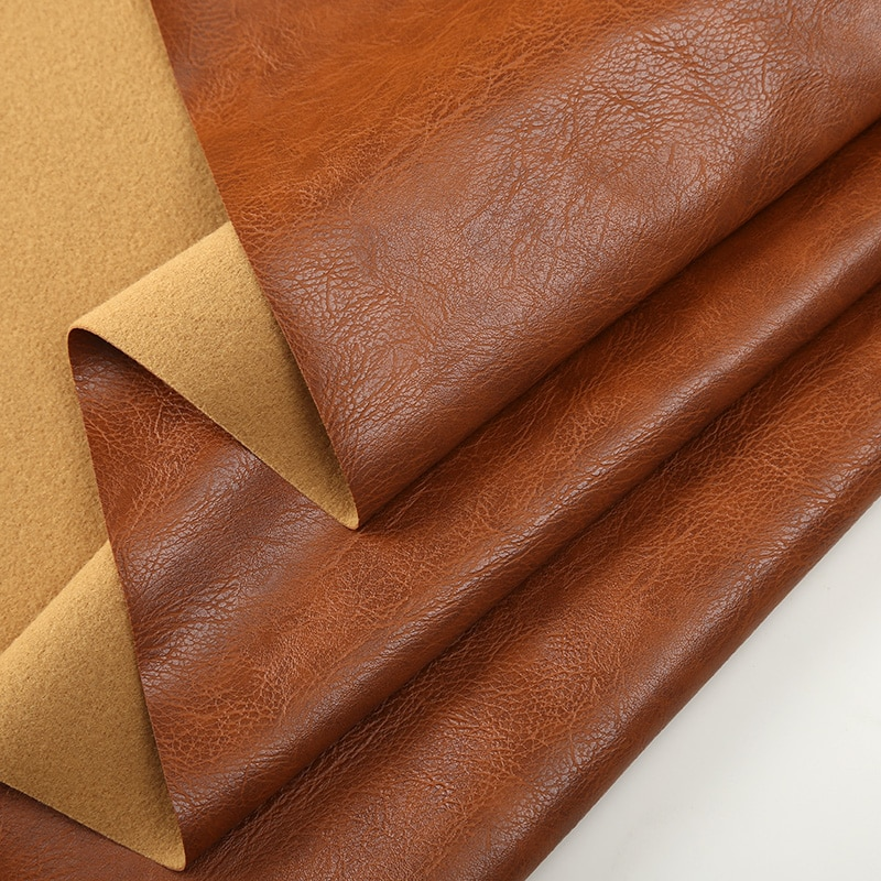 Sofá de tela de cuero Crazy Horse hecho a mano suave paquete de muebles asiento de coche PU impermeable