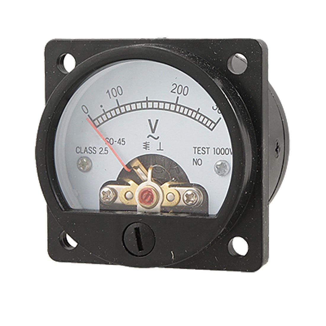 THGS  Hot Sale! Black AC 0-300V Round Analog Dial Panel Meter Voltmeter Gauge