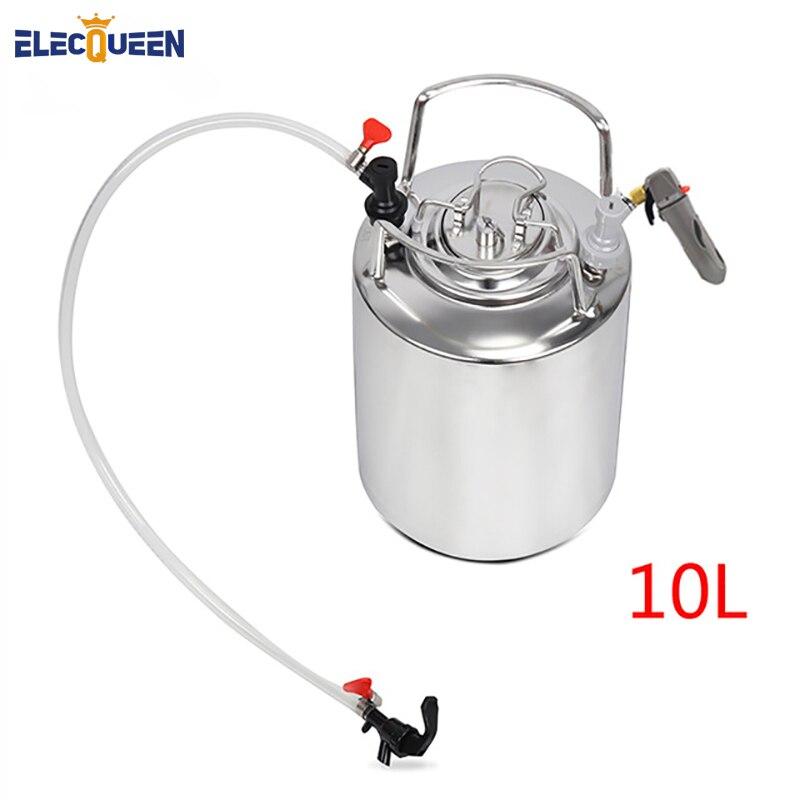 2.5 gallon 10L Cornelius style Stainless Steel Beer  Keg & beer faucet set & co2 keg charger kit,homebrew set