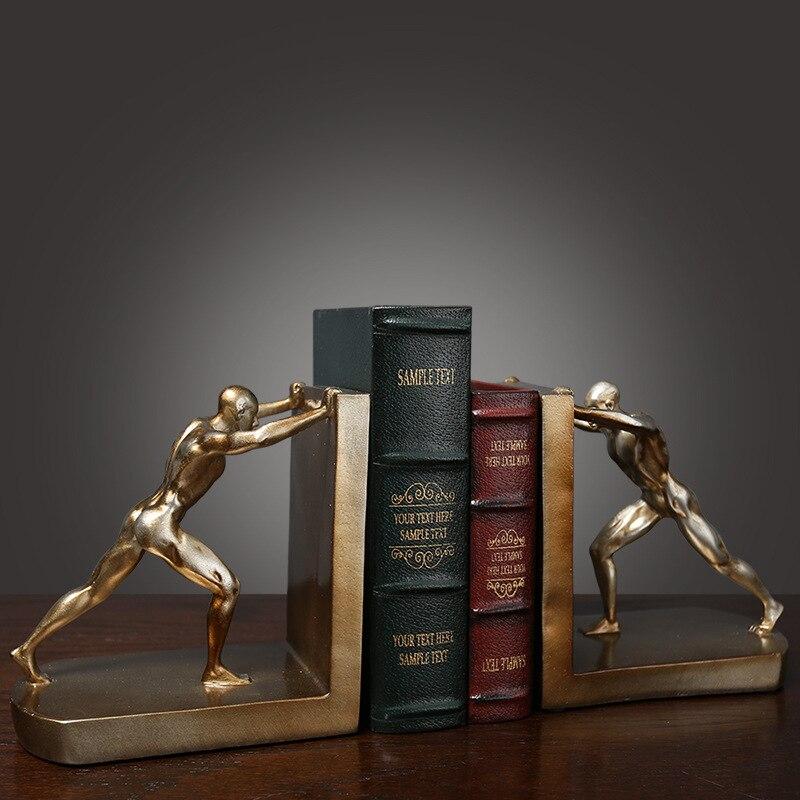 Criativo europeu retro criativo estudo gabinete de vinho decorações do escritório livros decoração artesanato estante ornamentos acessórios