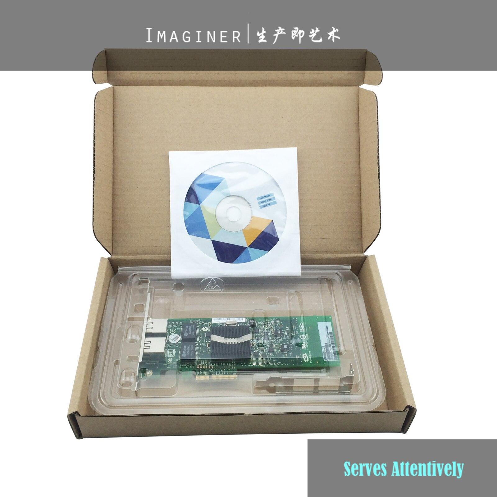 Alta calidad calcular productos 2 puertos Intel 82576 Chip Gigabit Ethernet, servidor adaptador PCI-e Gigabit Ethernet E1G42ET RJ45 puerto