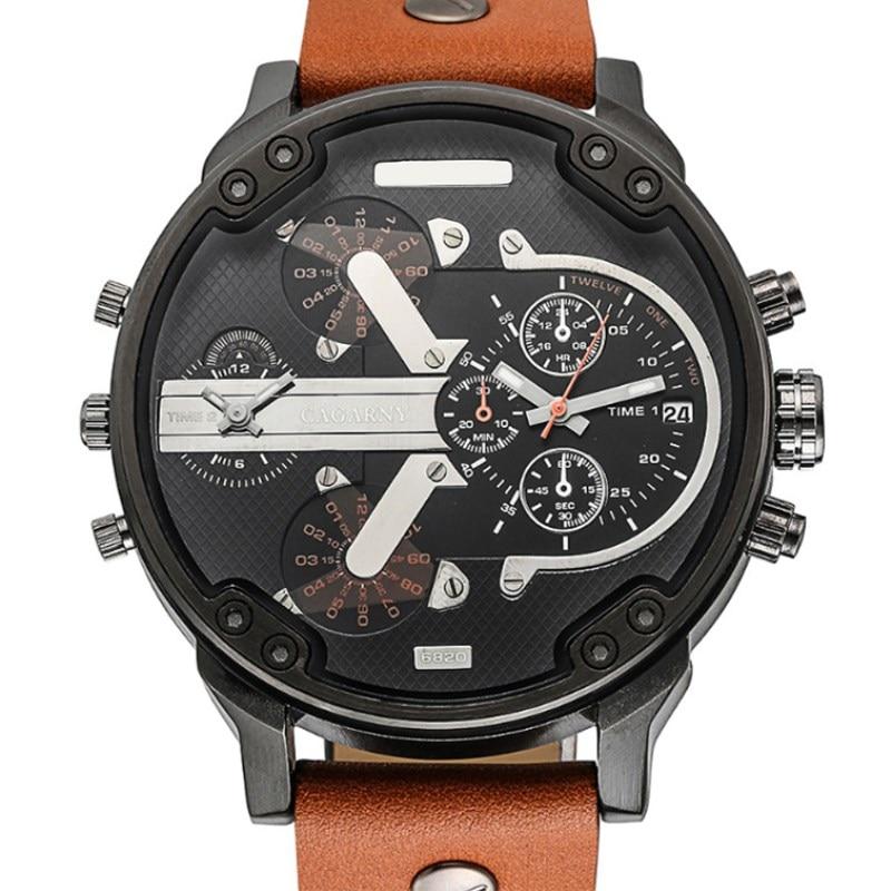 Reloj NATATE para hombre, reloj de doble movimiento, reloj de pulsera resistente al agua deportivo militar de cuarzo para hombre, reloj de pulsera de marca de lujo 0840