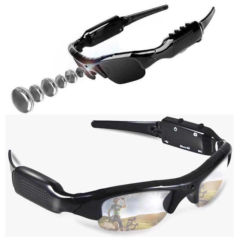 480P Video grabadora Digital HD gafas con cámara mini cámara inteligente DV ciclismo DVR gafas de sol móvil videocámara soporte tarjeta TF