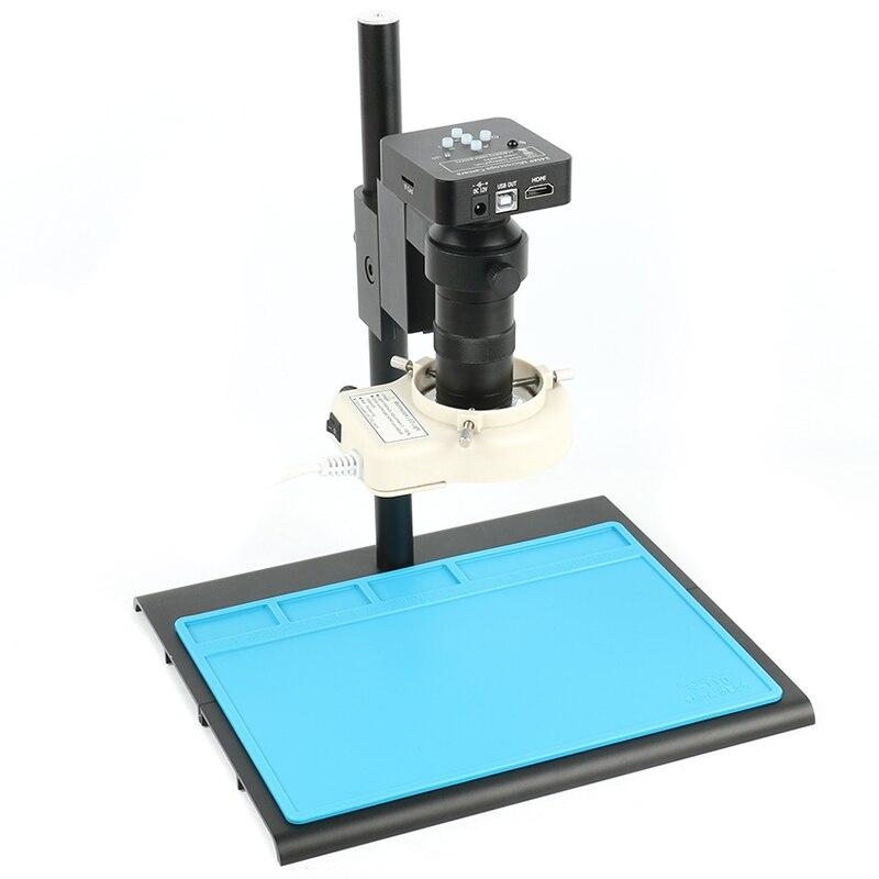 34MP 2K 1080P HDMI USB electrónico Digital Video microscopio Cámara 100X c-mount lente 56 LED iluminación anillo Luz