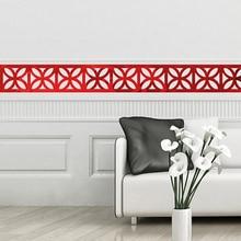 Creativo flor cintura espejo etiqueta de la pared, decoración para el hogar, Accesorios, 10 unids/pack adhesivo casa decoración de la pared pegatinas