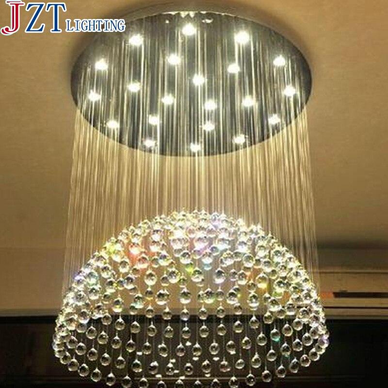 M Modern Minimalist Semi Sphere LED Crystal Light Dia 40/50/60/70/100cm For The Bedroom Living Room Hotel Creative Restaurant