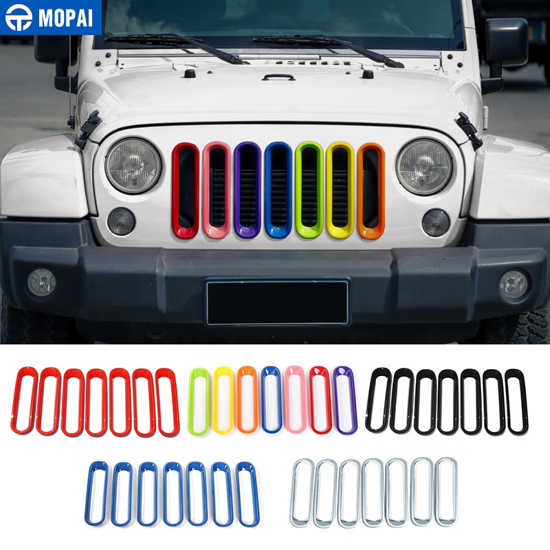 Накладки для автомобиля MOPAI ABS, декоративные наклейки для Jeep Wrangler 2007-2017