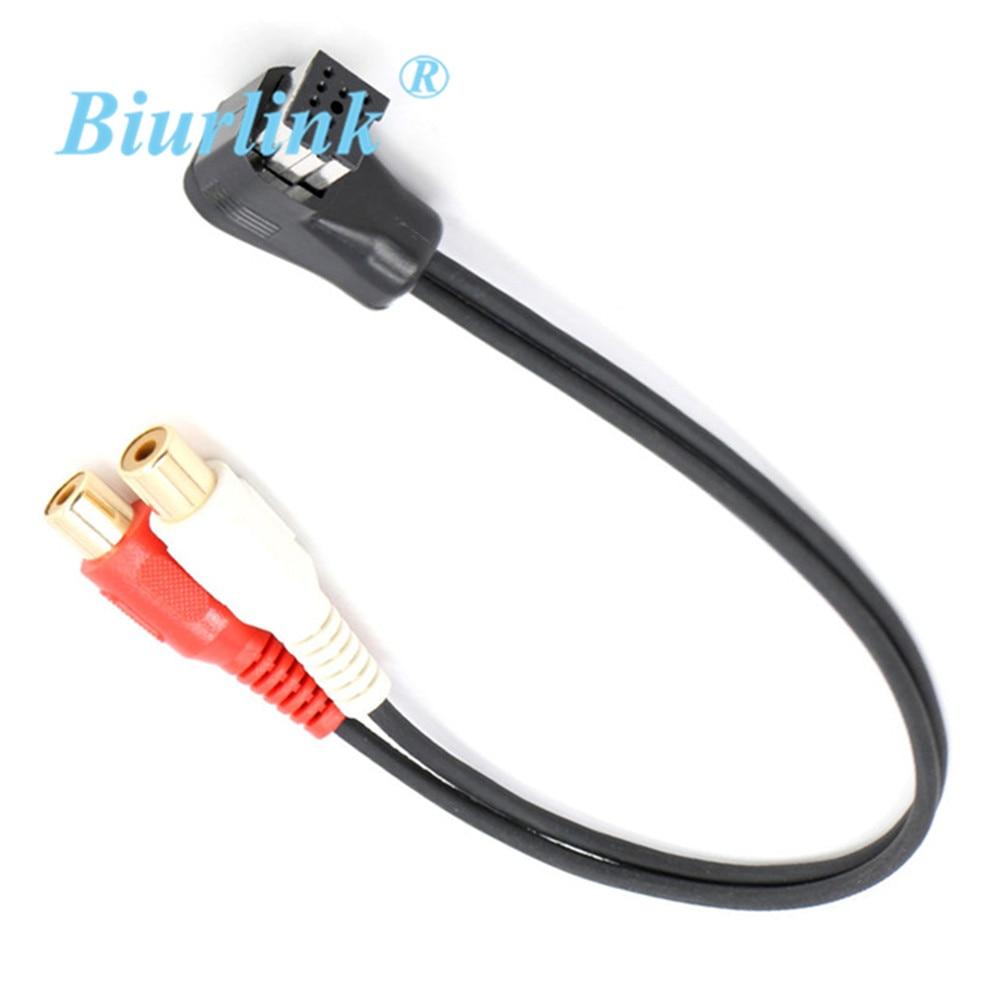Adaptador de Cable de Audio aux-in ip-bus a RCA para CD-RB10 cambiador...