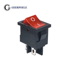 5 teile/los KCD1 21*15 LED 4 Pin 250 V 6A Boot Schalter SPST ON/OFF-Snap- in Rocker Position Licht Schalter