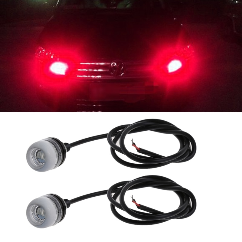 1 Pair 5630 18mm 3Led Concave Mirror Eagle Eye Lamp DRL Daytime Running Light For Car Motocycle New