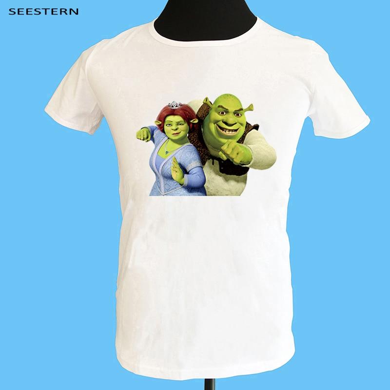 Seestern Shrek ropa hombres 3D impresión camiseta exagerada expresiones faciales camisetas para hombres Shrek moda Funy Tee Tops