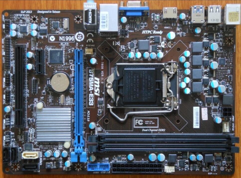 Original de la placa base para MSI B75MA-E33 LGA 1155 DDR3 para i3 i5 i7 cpu 16GB USB2.0 USB3.0 B75 placa base de escritorio