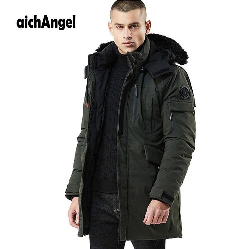 Winter Mann Jacke Warme Mantel Jacke Herren Parkas Jacken Männer Mantel Zipper Stehkragen Jacke Plus Größe Casual Parka